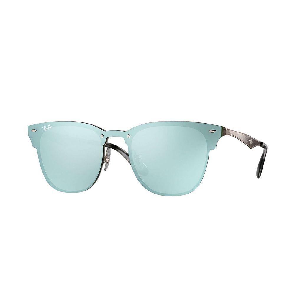 12e1ad905 Next. Passe o mouse para ampliar. Óculos Ray-Ban Blaze Clubmaster Verde  RB3576N ...