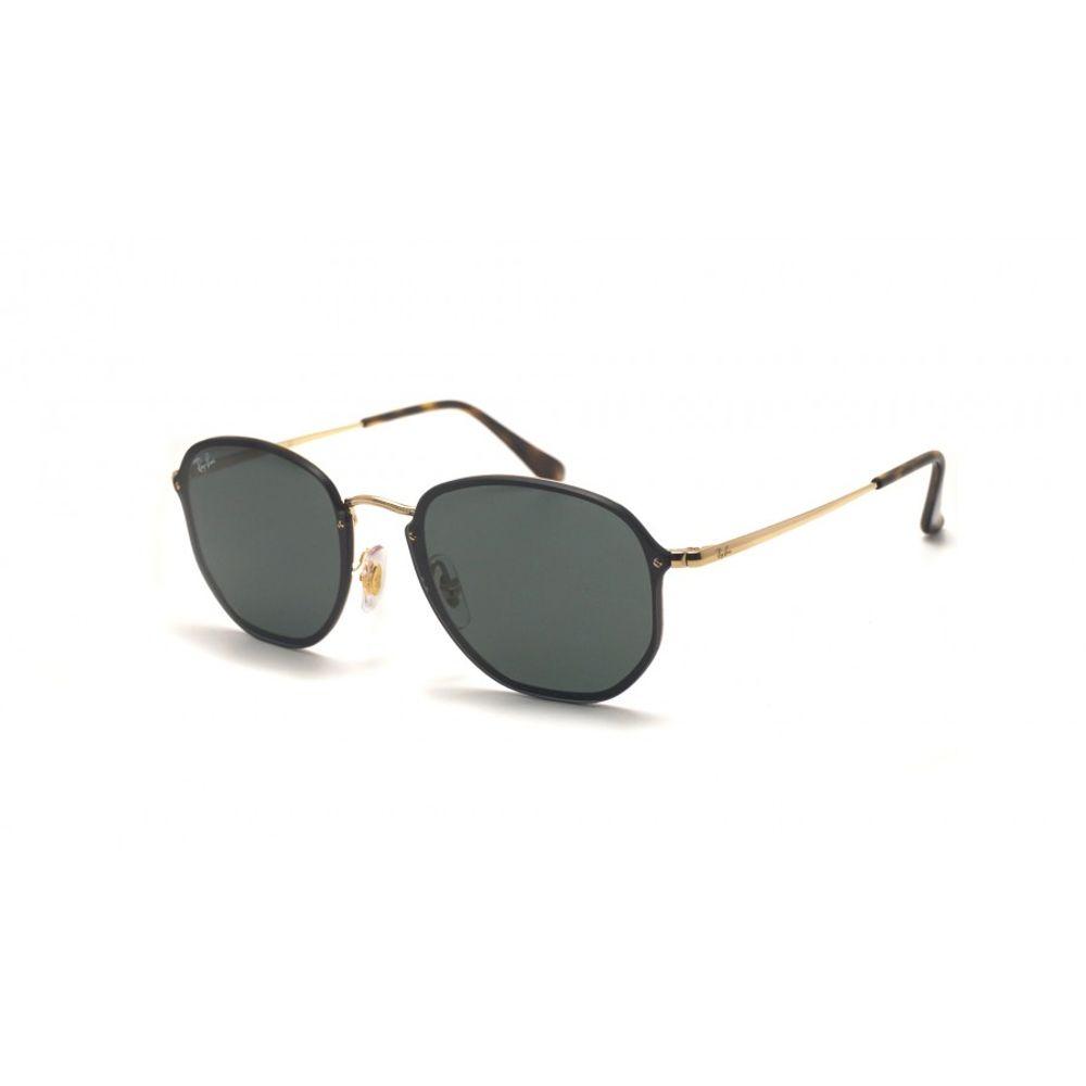 2e275a099f725 Óculos Ray-Ban Blaze Hexagonal Preto RB3579N 001 71 58 - omegadornier