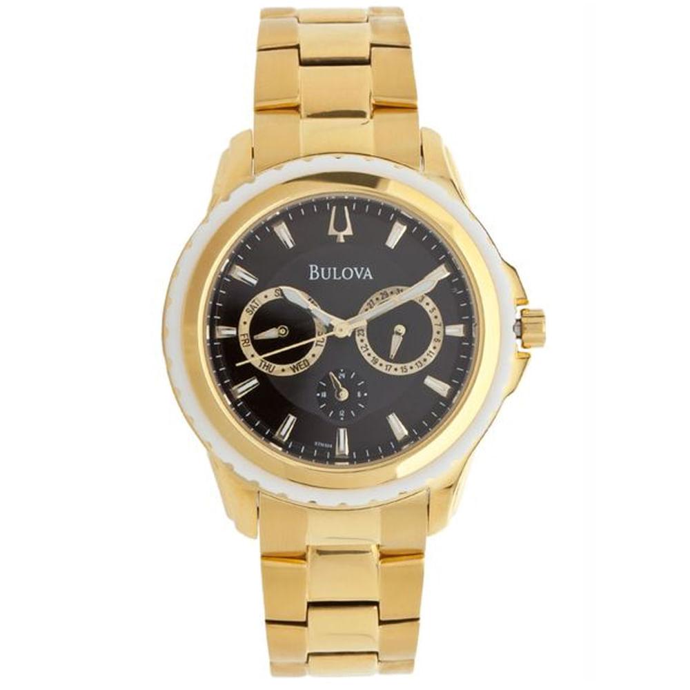 b4a10883056 Relógio Bulova Masculino Dourado WB22177R