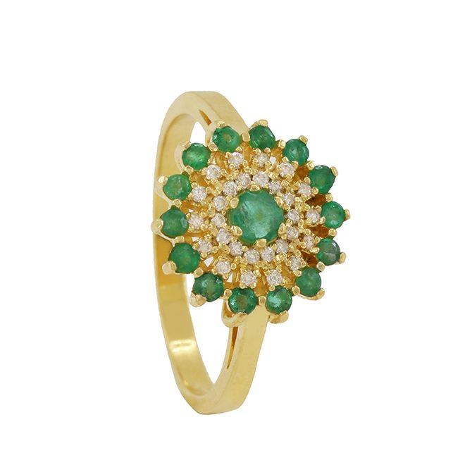 anel-chuveiro-com-esmeralda-e-diamante-ouro-18k-750