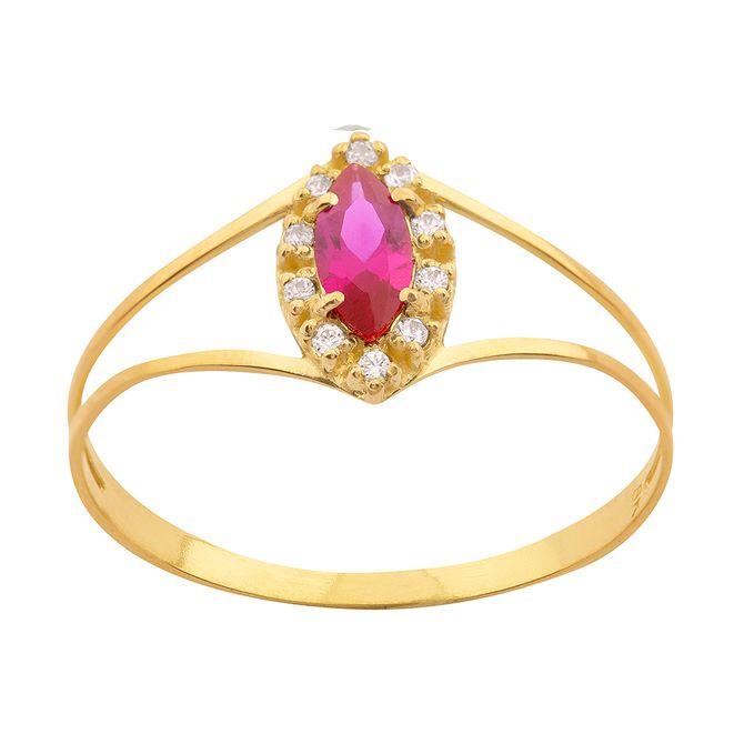 anel-ouro-18k-750-formatura-rubi-sintetico-e-zircônia