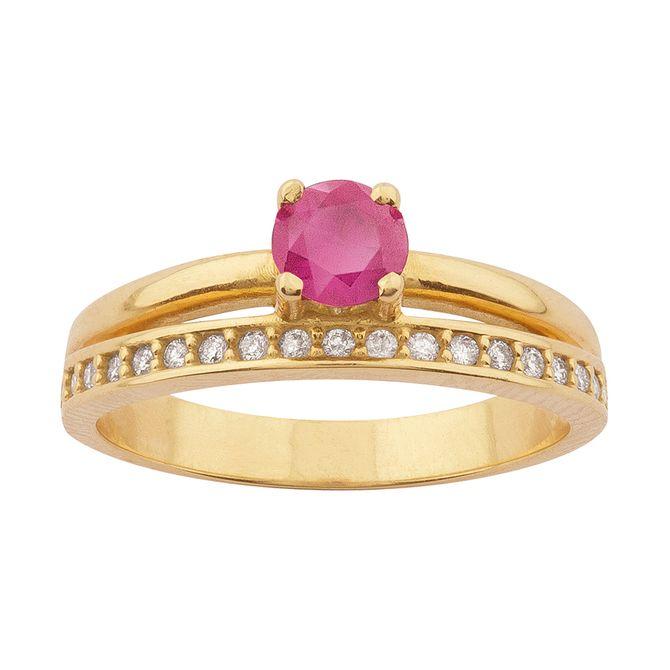 anel-solitario-duplo-com-rubi-e-diamante-ouro-18k-750