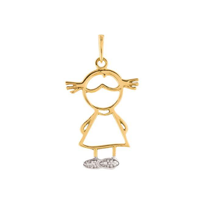 pingente-ouro-18k-750-menina-bicolor