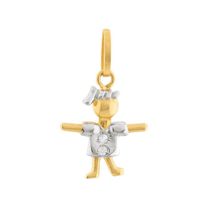 pingente-menina-2-diamantes-ouro-18k-750